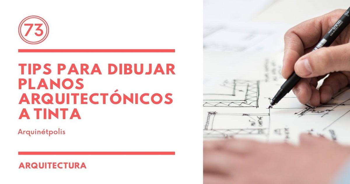 Plano Arquitectónico a tinta